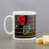 Gift For Dad - Music Themed Mug Of Guitar With His Favourite Band - Christmas Or Father'S Day Present