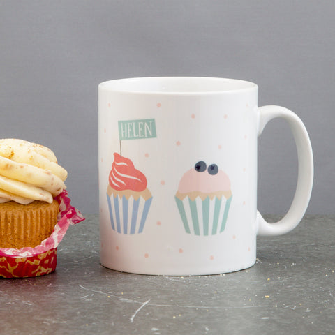 Cupcake Mug Present - Personalised Baking Themed Mug - Secret Sanat Gift For Cake Lover Or Baker