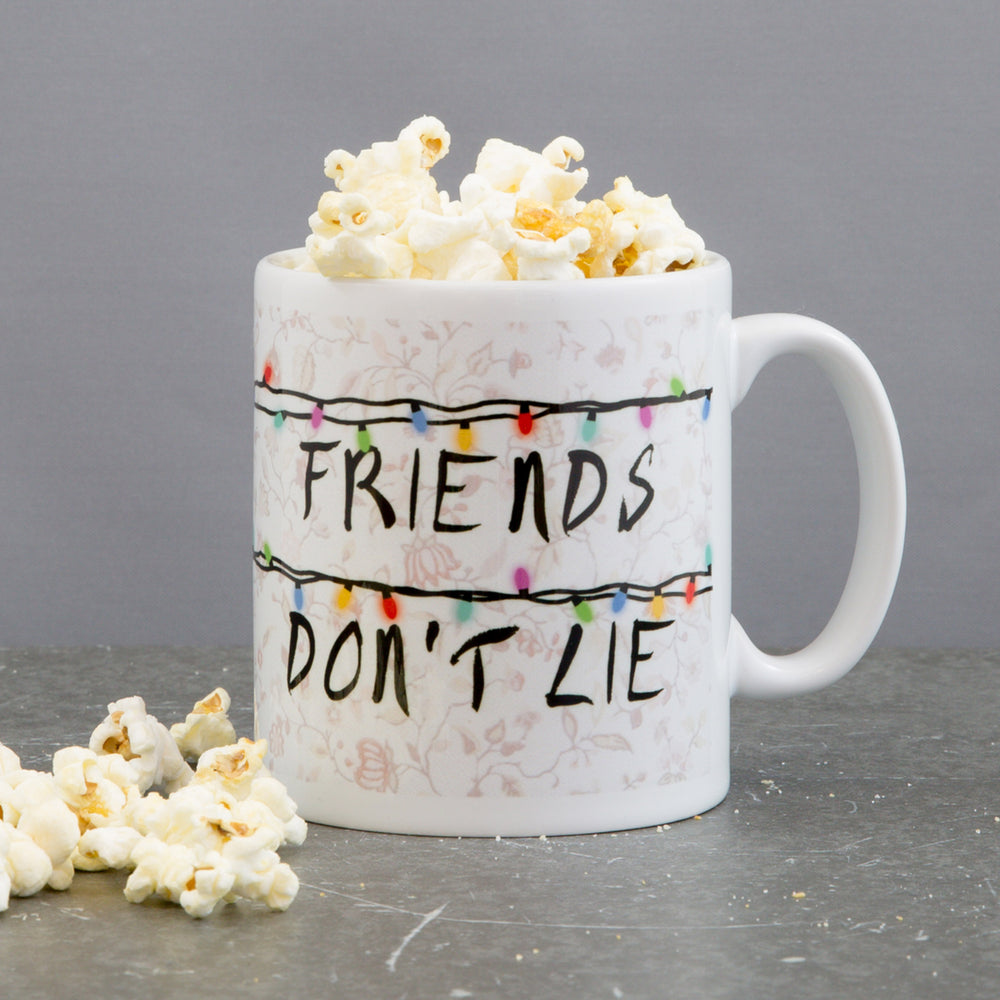 Stranger Things Fan Gift - Christmas Lights Customised Friends Don't Lie Mug - Secret Sanata Present