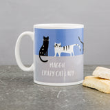 Cat lover mug - Crazy cat lady cat tribe - personalised with name and optional custom cats