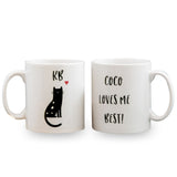 Pet lover gift from their Cat - Optional custom cat design - show their cat love on this cute cat mug