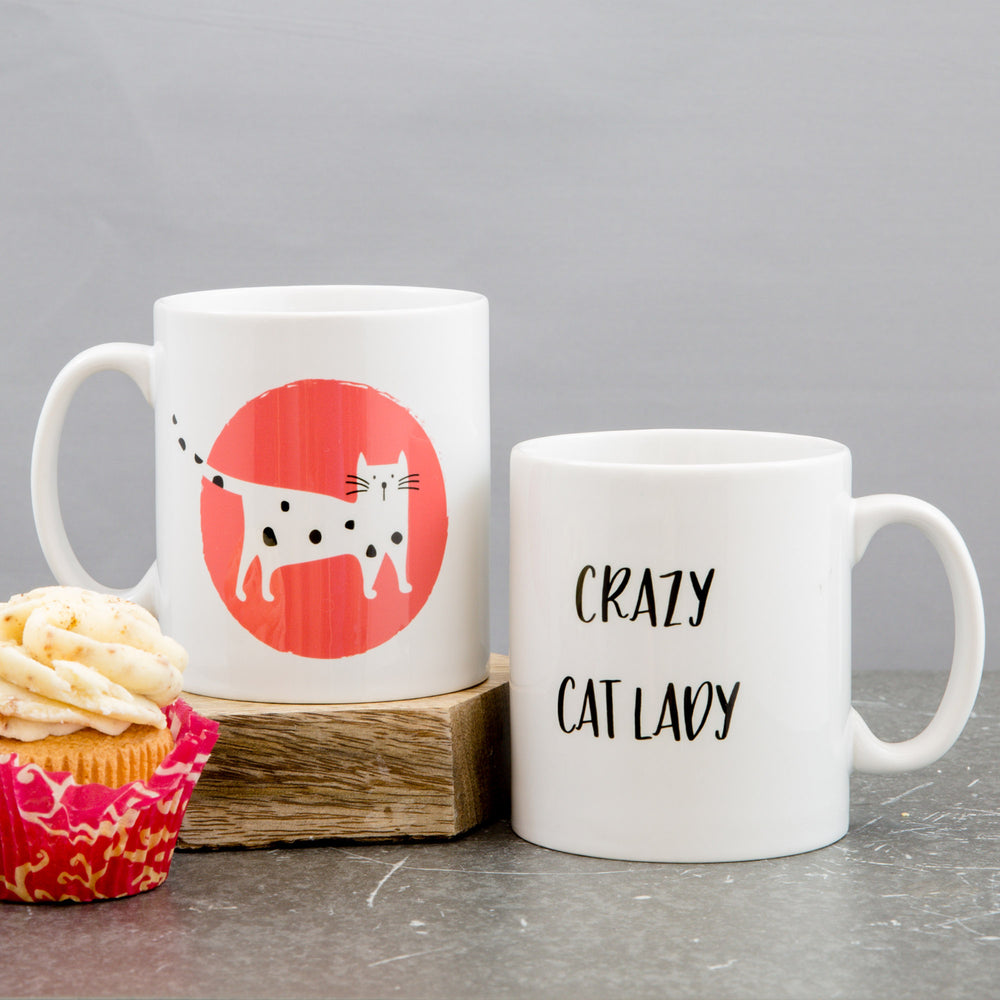 Crazy Cat lady mug - featuring their car in own design - gift for cat pet lover or from cat