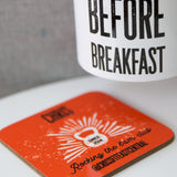 6am club fun crossfit athlete gift - Early Doors Gym personalised coaster - secret santa barbell club