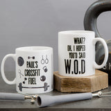 Fun crossfit athlete gift mug - What? I hoped you'd said WOD - fun workout gym mug secret santa