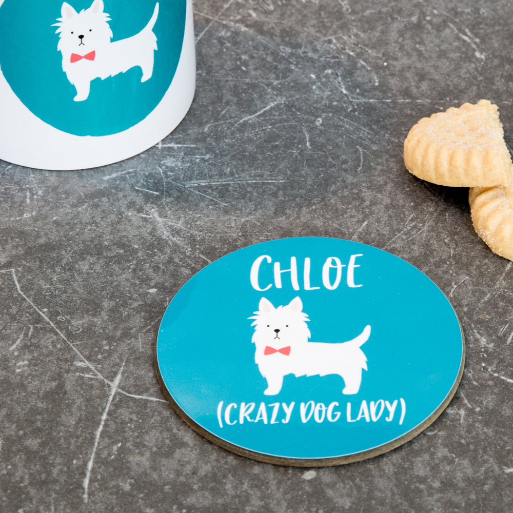 Personalised Dog Coaster - Pet Portrait Gift Any Dog Breed - Labrador Retriever Whippet Boxer