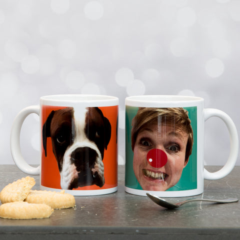 Photo Portrait Print - Fun Mug Featuring Any Face Or Pet - Comedy Gift For Dad Mum Secret Santa Birthday