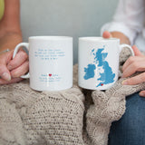 Wedding Gift - Personalised Heart Venue Location Map Mug With Poem - Mr & Mrs, Mr & Mr, Mrs & Mrs