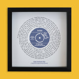 Personalised Vinyl Record Song Lyrics Print Gift For Him