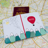Gift For Child - Mountain Adventure Themed Passport Cover - Stocking Filler Holiday Present