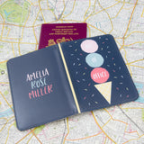 Fun Present For Friend - Out Of Office Ice Cream Passport Holder Personalised - Secret Santa Gift For Her