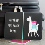 Alpaca Pun Print - Alpaca'D And Ready To Go Custom Passport Holder - Fun Secret Santa Sticking Filler