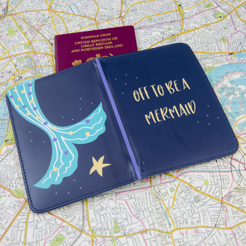 Passport Cover Gift - Featuring Mermaid Tail And Dream Theme - Gift for Her Neice Kids