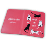 Crazy Cat Lady gift - passport cover featuring your own custom cats - secret santa or gift for her