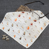 Hipster Men's Styling - Vintage Fishing Tackle Themed Pocket Square - Personalised Men's Suiting