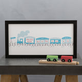 New Baby Personalised Gift - Train Featuring Baby Birth Weight And Time - Ideal For Newborn Or Christening