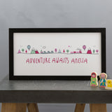 Kids Bedroom Or Nursery Print - Adventure Awaits Illustration - Birthday Or New Baby Gift