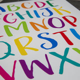 Print For Kids Bedroom Or Playroom - Alphabet Poster In A3 A2 A1 Size - New Home Office Or Childrens Gift