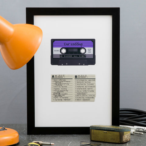 Retro Gift For 30th 40th Birthday - Mix Tape With Song List Personalised - Vintage Music Present