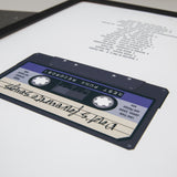 Music Themed Present - Mix Tape Cassette With Track List Or Set Personalised - Gift For Him