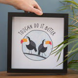 Toucans Print - Ideal For Twins Or As A Unique Wedding Present For Couple - Toucan Pun Personalised