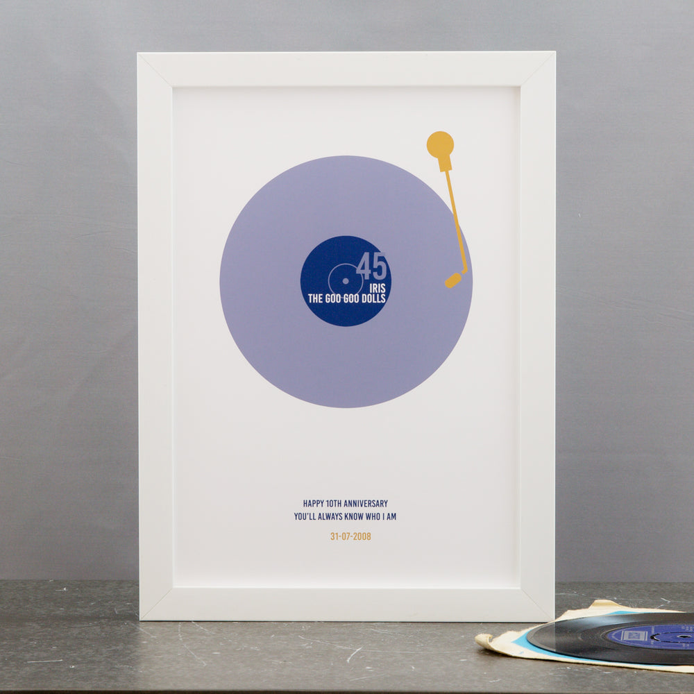Vinyl record customised anniversary first dance song Not Just a Print – Not Just A Print