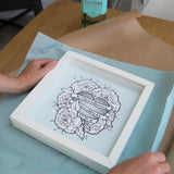Illustrated Botanicals Gift For Wedding - Peonies In Bloom Around Heart - Ideal 4th Anniversary