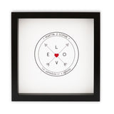 Wedding Gift Personalised Print - Adventure Of A Lifetime Compass Design - New Home Or Leaving Present