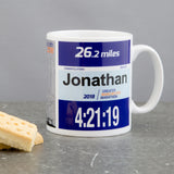 Manchester Marathon Finishers Mug - 26.2 Miles Route Map and Personalised Number