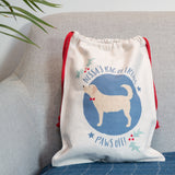 Dog Treat Sack Personalised - Portait Of Dog Breed Santa Or Plain Bag - Ideal Secret Santa For Dog Lover