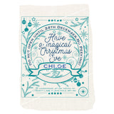 Traditional Christmas Design Decoration - Personalised Present Sack Any Name - Red Navy Teal Pink Grey