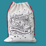 Christmas Eve Box Alternative - Starry Night Scene Christmas Sack - Small, large or set of bags