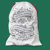 Traditional personalised santa sack - 'Twas the night before Christmas' - Chirstmas Eve Box alternative