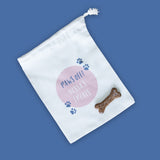 Dog treat bag personalised - Paw Print Design Customised - Gift For Dog Pet Lover