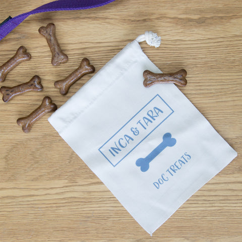 Treat bag for dog - Gift for the dog or for dog lover - personalised with your dog or pet name