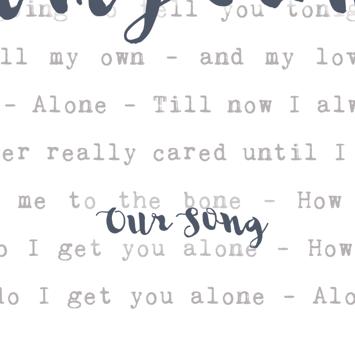 Song Lyrics Cushion u0027Our Songu0027 Typography 2nd Anniversary Gift  sc 1 st  Not Just A Print & Song Lyrics Cushion Typography 2nd Anniversary Gift | Not Just a ...