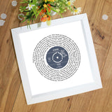 Song Lyrics Print Personalised Vinyl Record Gift For Her
