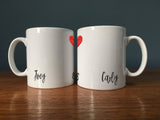 Friends Inspired Gift - 'He's Her Lobster' Personalised Mug Set - Instagram Ready For Life Partner