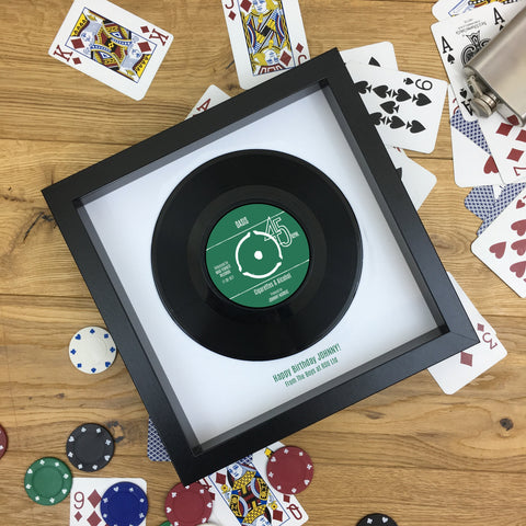 Personalised Vinyl Record Framed - Real 7 inch Vinyl Gift for Him