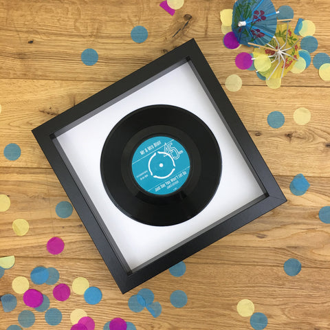 Personalised Vinyl Record Framed - Real 7 inch Vinyl Gift for Couple