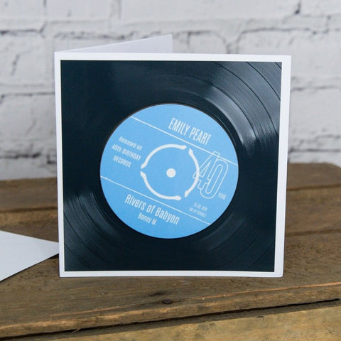 Personalised 40th Birthday Greetings Card Optional Coaster - With Number 1 Single Day Born Or Favourite Song