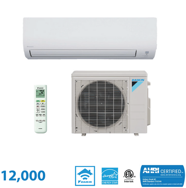 Daikin 12,000 BTU Aurora Series 20 SEER Wall Mounted Heat Pump System