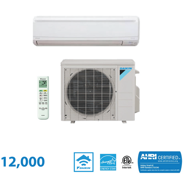 Daikin 12,000 BTU LV Series 23 SEER Wall Mounted Heat Pump System