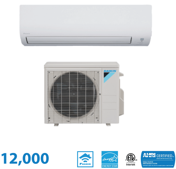 Daikin 12,000 BTU 19 SEER Wall Mounted Heat Pump System