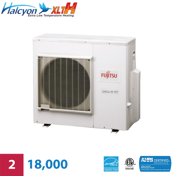 Fujitsu 2-Zone 18,000 BTU Extra Low-Temperature Unit