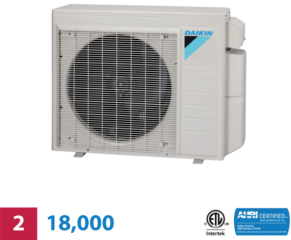 Daikin 2-Zone 18,000 BTU Outdoor Heat Pump Unit