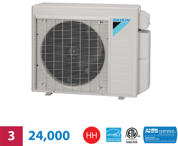 Daikin 3-Zone 24,000 BTU High Heat Heat Pump Unit