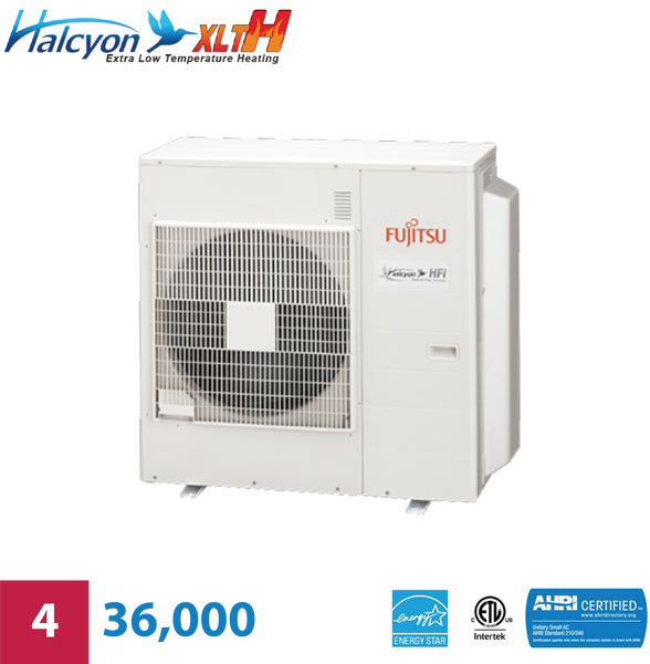Fujitsu 4-Zone 36,000 BTU Extra Low-Temperature Unit