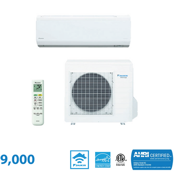 Daikin 9,000 BTU Quaternity Series 26.1 SEER High Heat Wall Mounted Heat Pump System
