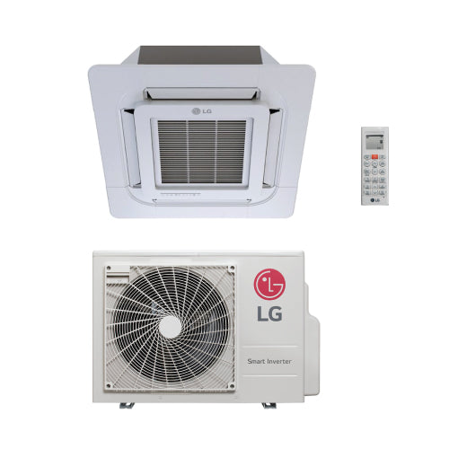 LG 18,000 BTU 20 SEER 2x2 Ceiling Mounted Heat Pump System