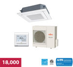 Fujitsu 18,000 BTU 21.4 SEER Circular Flow Cassette High Efficiency Heat Pump System